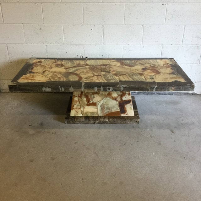 Rectangular Onyx Coffee Table Attributed to Muller and Arturo Pani For Sale - Image 13 of 13
