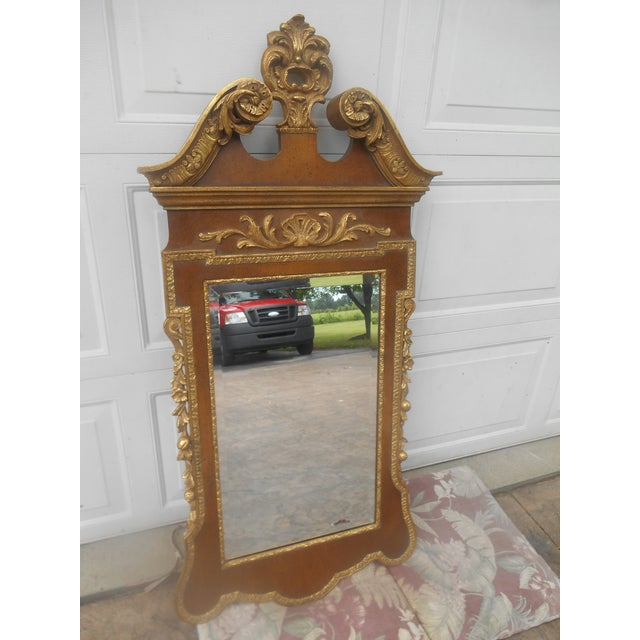 Friedman Brothers Mahogany & Gold Georgian / Louis XVI Style Mirror FB Decorative Arts Inc. N.Y. Age: Approx: 35 Years Old...