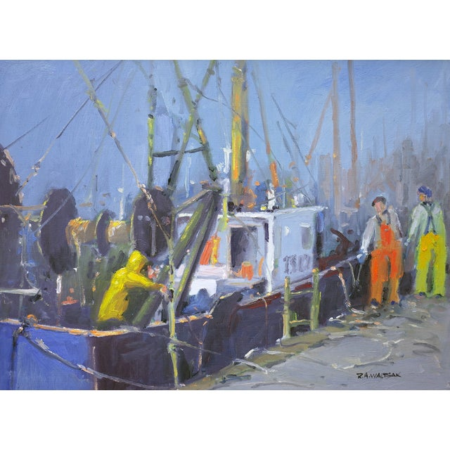 Bringing in the Catch Painting - Image 1 of 4