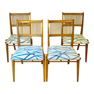 Mid-Century Modern Drexel Profile by John Van Koert Dining Chairs - Set of 4 For Sale