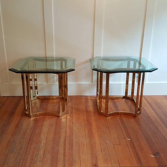 Milo Baughman Style Side Tables - A Pair - Image 2 of 8