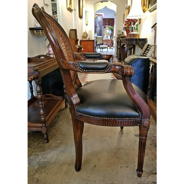 Presenting an beautiful 20th century French cane backed Bergere chair by Theodore Alexander of NY. Firstly, in this...