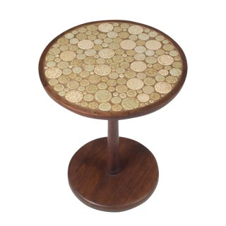 Gordon Martz Oatmeal Tile Top Pedestal Table For Sale
