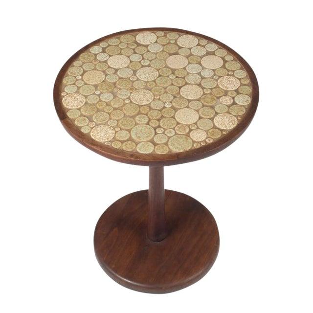 Gordon Martz Oatmeal Tile Top Pedestal Table For Sale