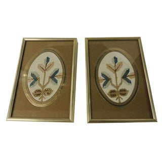 Antique Framed Turkish Textiles - A Pair