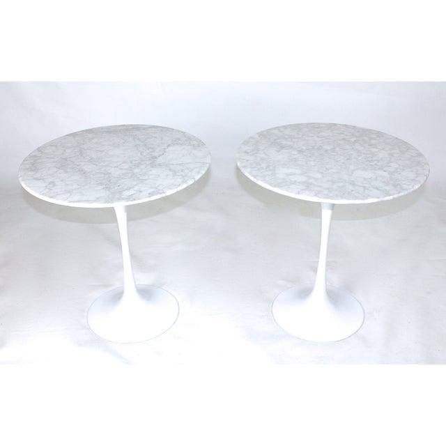 Two Saarinen Style Marble Side Tables - Image 2 of 3