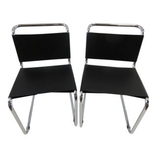 Mart Stam Dining Side Chairs - a Pair For Sale