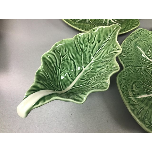 5 Vintage Pieces of Bordallo Pinheiro Cabbage Design For Sale In Tampa - Image 6 of 9