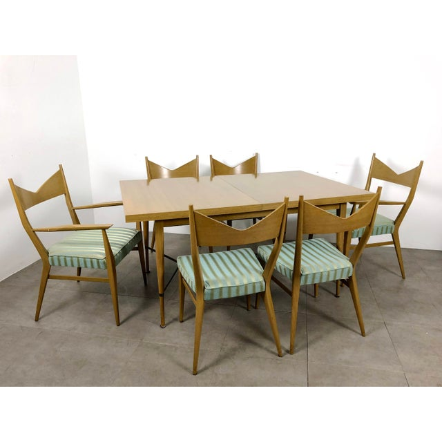 Gold 1950s Vintage Paul McCobb Irwin Calvin Dining Table For Sale - Image 8 of 11