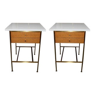 Paul McCobb for Calvin Group Two Drawer Nightstands - a Pair For Sale