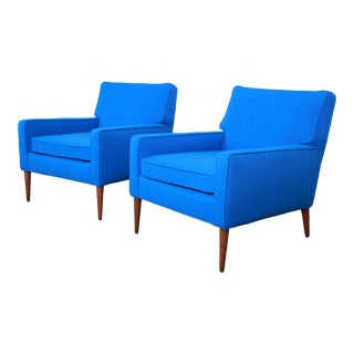 Paul McCobb for Directional Model 3022 Lounge Chairs, Newly Reupholstered For Sale