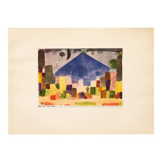 "1955 Paul Klee ""The Niesen"", First Edition Lithograph For Sale"