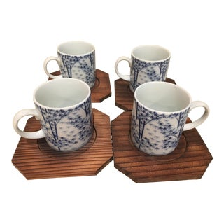 21st Century Chinese Porcelain Tea Cup- Set of 4 For Sale