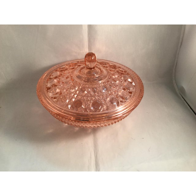Vintage Peach Glass Dish For Sale - Image 10 of 10