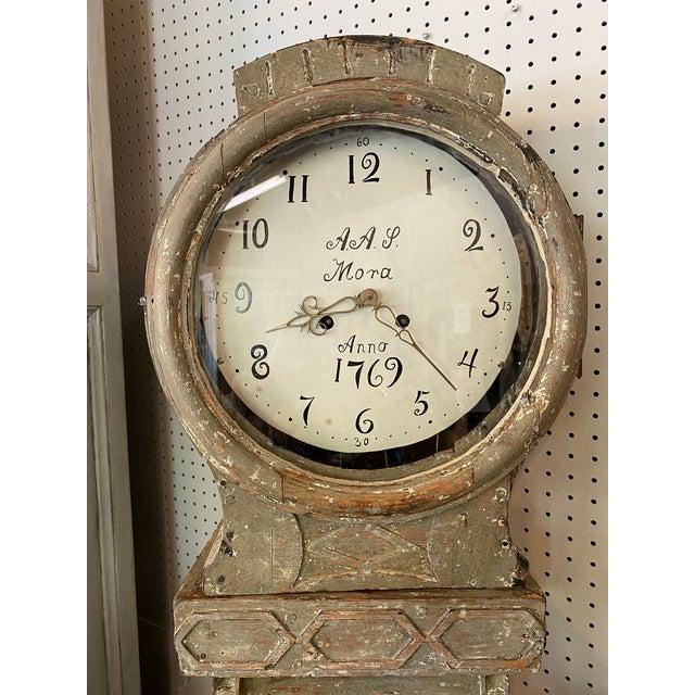 Gray 18th. C. Swedish Gustavian Mora Clock For Sale - Image 8 of 13