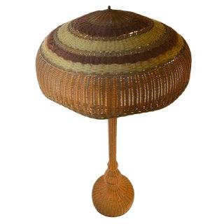Wicker Floor Lamp For Sale