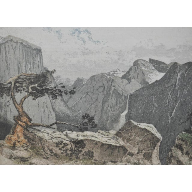 Yosmite Valley Etching by Josef Eidenberger For Sale - Image 5 of 9