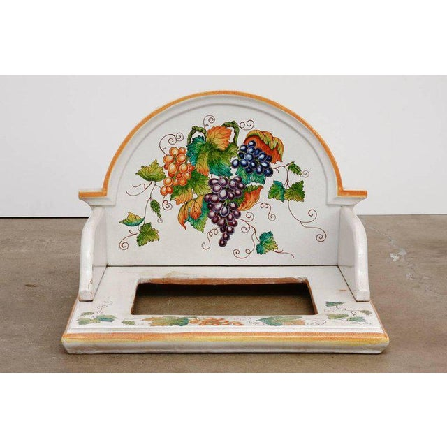 Mid 20th Century Italian Pottery Ceramic Hibachi or Garden Sink Surround For Sale - Image 5 of 13