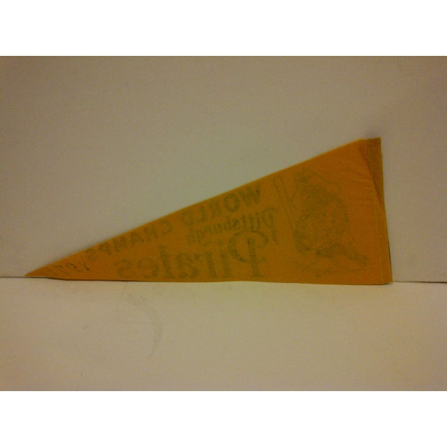 1971 Vintage MLB Pittsburgh Pirates World Champs Team Pennant For Sale - Image 5 of 5