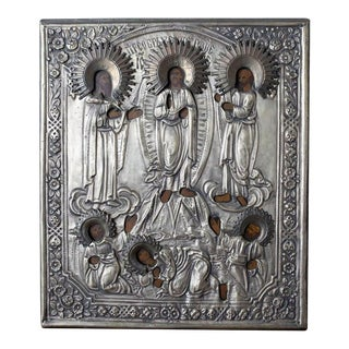 Russian Icon Christ With Disciples For Sale