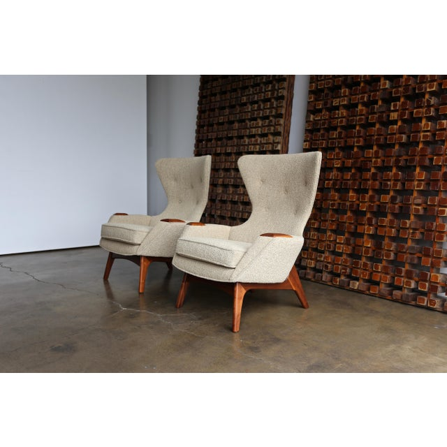 Adrian Pearsall Wing High Back Chairs for Craft Associates. This pair has been professionally restored.
