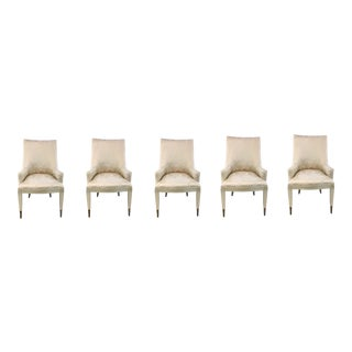Caracole Modern You're Invited Dining Chairs Set of Five For Sale