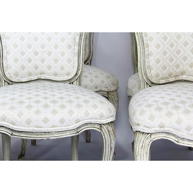 Late 20th Century Vintage Upholstered Dining Chairs- Set of 6 For Sale - Image 12 of 13