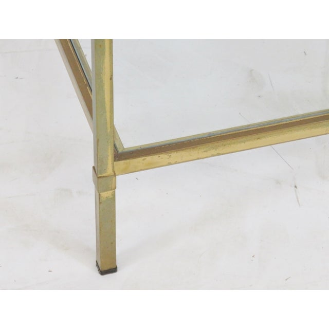 Mid-Century Modern Brass & Glass Side Table - Image 2 of 4