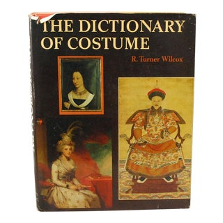 1960s Vintage Dictionary of Costume Fashion Reference Book For Sale