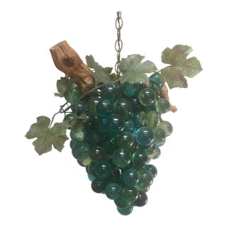 Resin & Driftwood Grape Cluster Chandelier For Sale