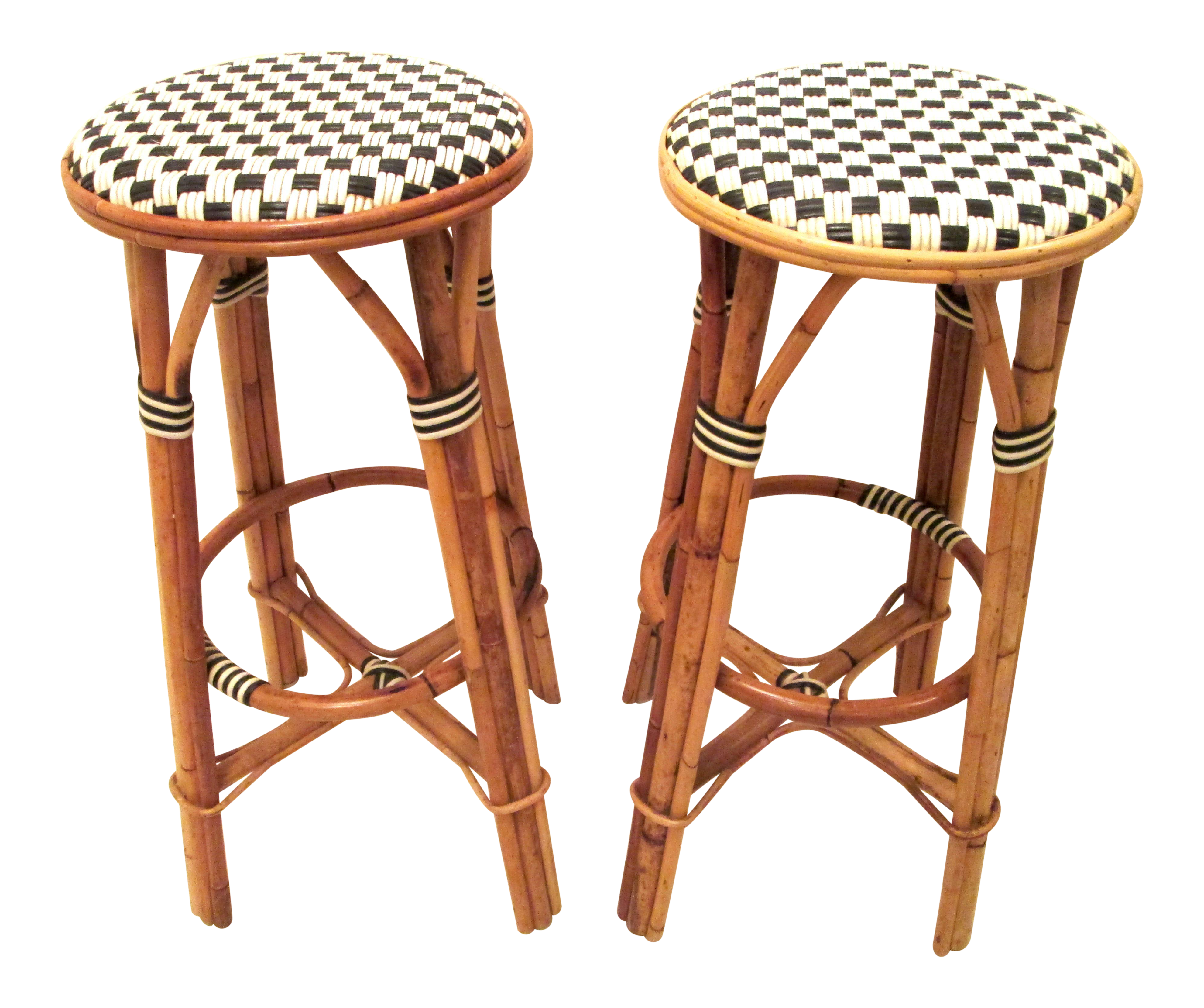 Magnificent French Bistro Backless Counter Stools A Pair Ibusinesslaw Wood Chair Design Ideas Ibusinesslaworg