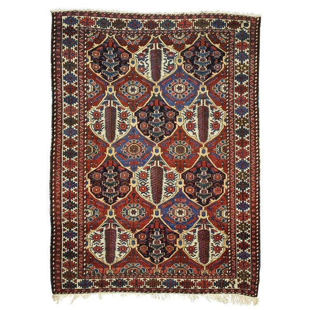 Antique Persian Bakhtiari Rug with Four Seasons Garden Design For Sale In Dallas - Image 6 of 8