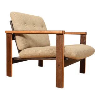 Illum Wikkelso Danish 2-Tone Capella Wenge Wood Lounge Chair For Sale