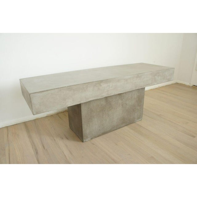 CB2 Concrete Resin Fuze Bench - Image 5 of 6