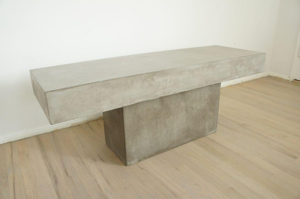 CB2 Concrete Resin Fuze Bench   Image 5 Of 6