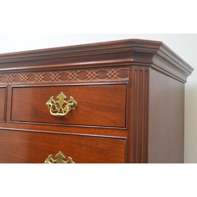 Chippendale Baker Mahogany Chest of Drawers For Sale In Philadelphia - Image 6 of 13