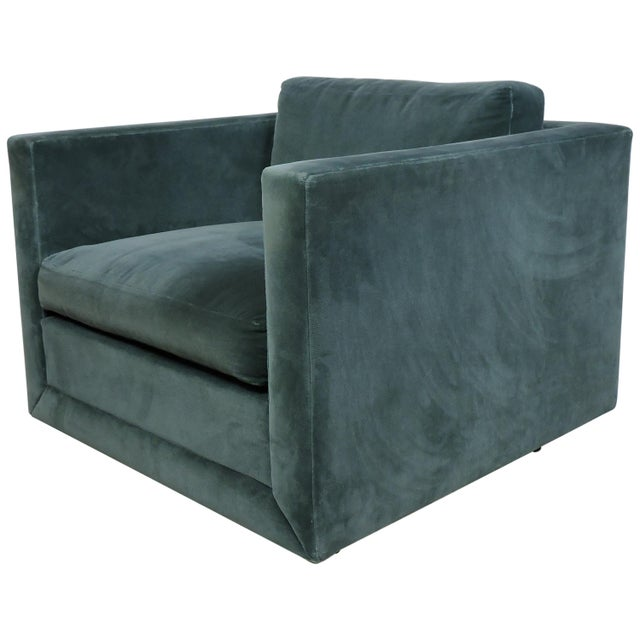 Mid-Century Modern Wormley Probber Style Cube Lounge Chair For Sale - Image 12 of 12