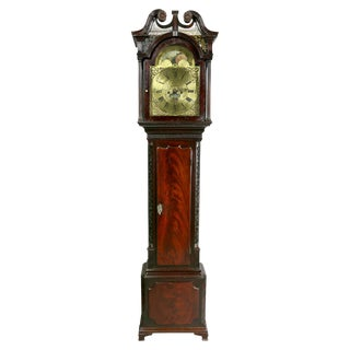 George III Mahogany Longcase Clock by William Taylor of Whitehaven, Cumbria For Sale