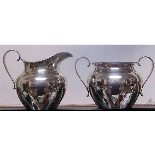 Mid 20th Century Sterling Silver Sugar and Creamer by International Silver Co. For Sale - Image 5 of 11