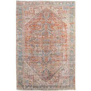 Early 20th Century Antique Persian Heriz Rug For Sale
