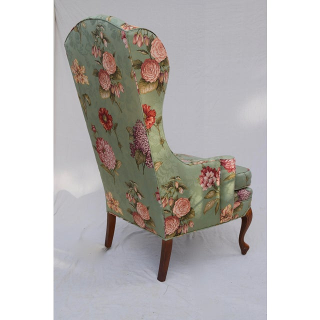Late 20th Century Baker Wing Back Chair For Sale - Image 5 of 10