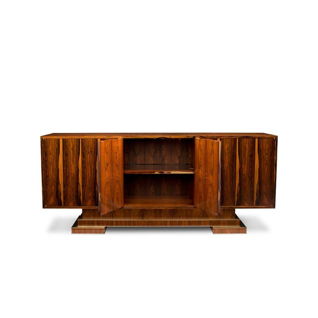 "This Sideboard is the 2nd of a pair of ""sister"" cabinets, inspired by French Designers circa 1940's, such as Paul Dupre-..."