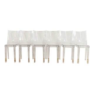 La Marie by Starck for Kartell Transparent Chairs - Set of 6 For Sale