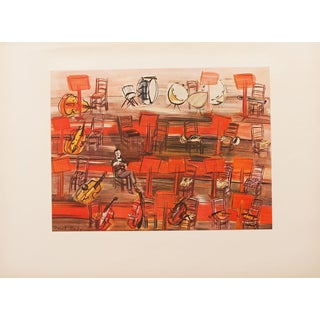 """1954 Raoul Dufy, """"Intermission"""" First Edition Lithograph For Sale"""
