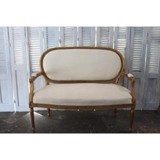 Vintage 20th Century French Louis XVI Style Oval Back Settee Preview