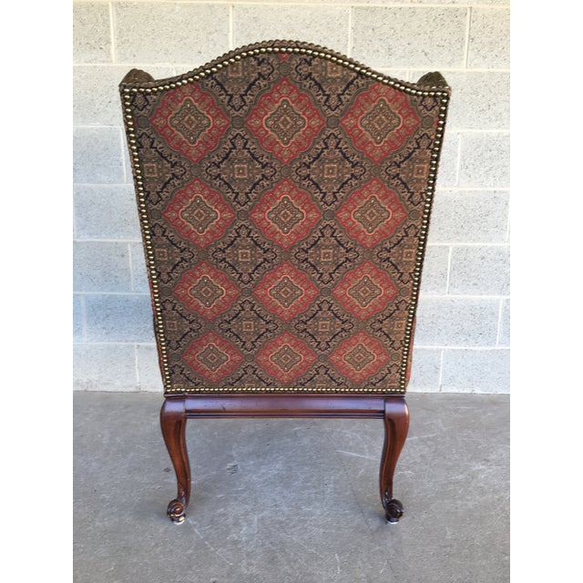 Textile Vanguard Sultana French Provincial Wing Back Arm Chair For Sale - Image 7 of 9