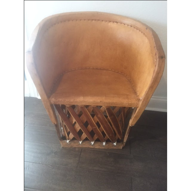 Rustic Mexican Equipale Chair For Sale - Image 3 of 11
