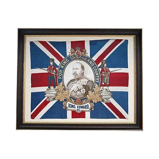 Original 1902 King Edward VII Coronation Flag For Sale