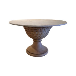 Hand Carved Italian Marble Top Dining Table