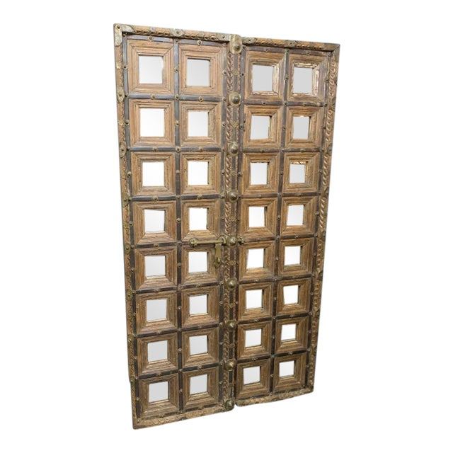 18th Century Mughal Empire Wood Doors-a Pair For Sale